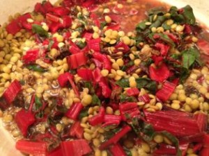 Swiss Chard and Lentils