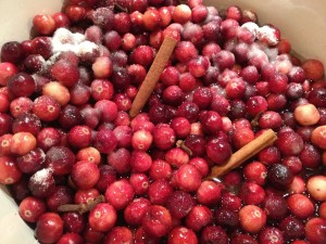 Rad raw cranberries