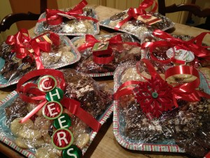 wrapped cookies 300x225 10 Tips for Hosting a Holiday Baking Day & Cookie Swap