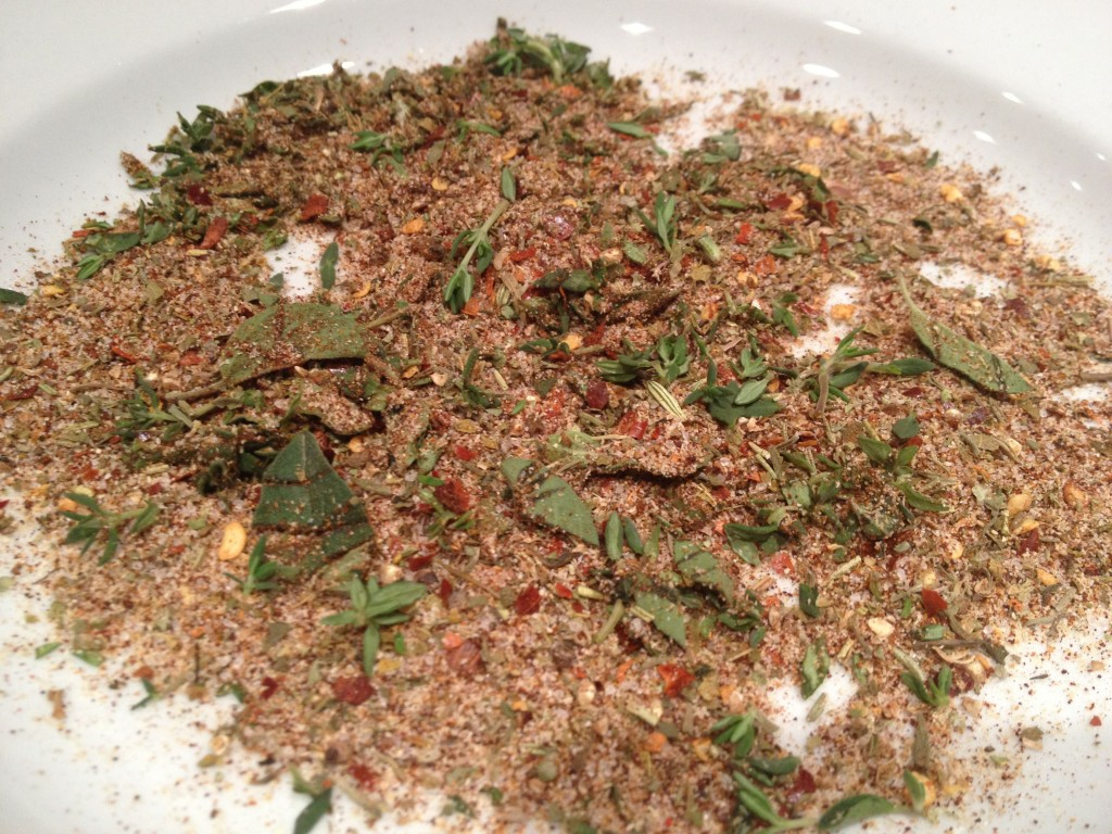 Fresh herbs plus spice mix