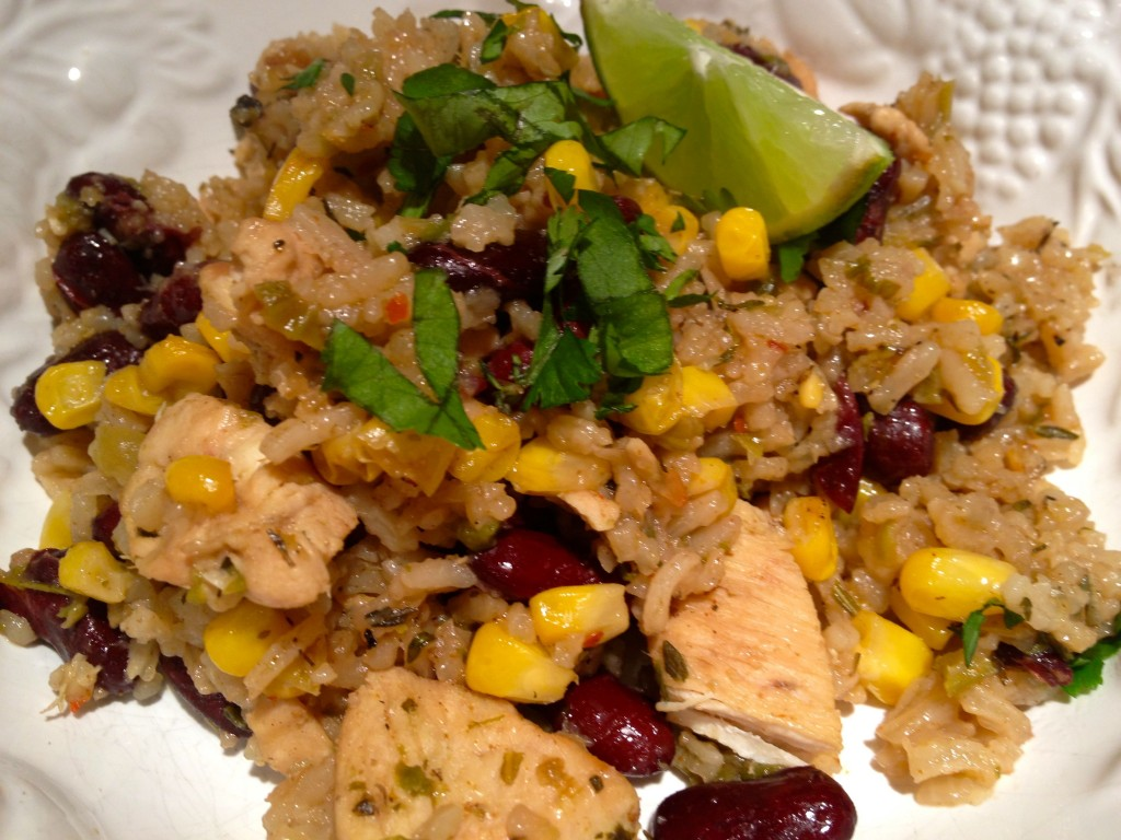 Dirty Rice, Red Beans and Chicken