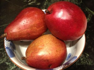 Fresh Red Pears- Red Food