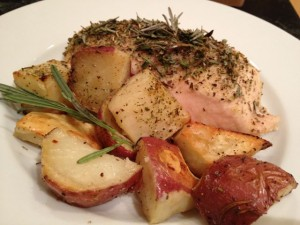 Rosemary Chicken & Roasted Red Potatoes