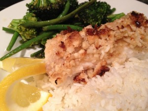 Macadamia Coconut Encrusted Halibut